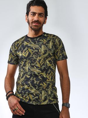 ABG All Over Printed Round Neck T-shirts