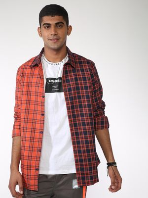 ABG Colour Contrast Checked Shirt
