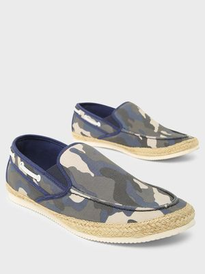 ABG Camo Print Espadrille Slip-On Shoes