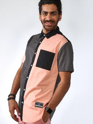 ABG Colour Block Short Sleeve Shirt