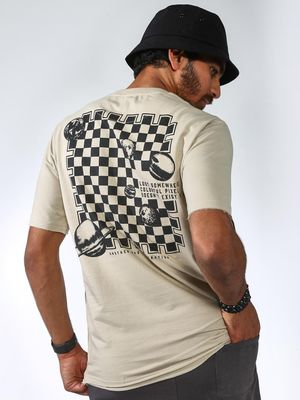 ABG Check Box Back Print T-shirts