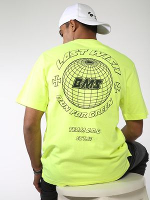 ABG Brand Logo Placement Print Crew Neck T-shirt