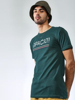 IMPACKT Text Placement Print Crew Neck T-shirt