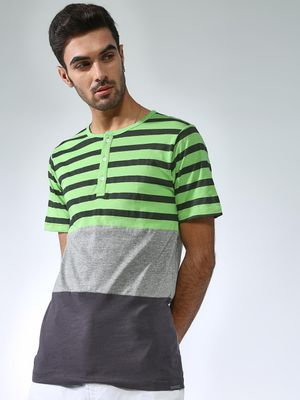 IMPACKT Color-Block Horizontal Stripe T-shirt