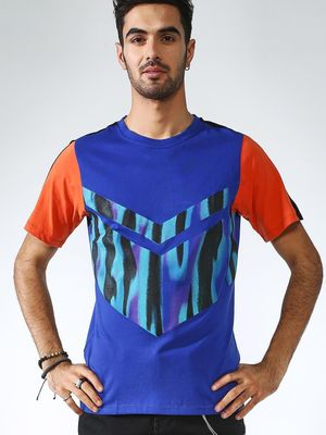 IMPACKT Color Block Abstract Print T-shirt