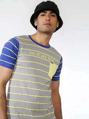 IMPACKT Striped Patch Pocket T-shirts