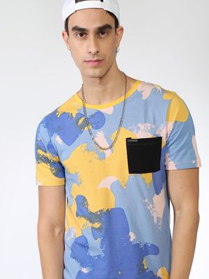 IMPACKT Camo Print Patch Pocket T-shirt