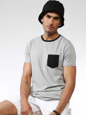 IMPACKT Solid Casual Regular Fit T-Shirt