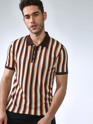 SMUGGLERZ Inc. Multi Vertical Stripes Polo Shirt