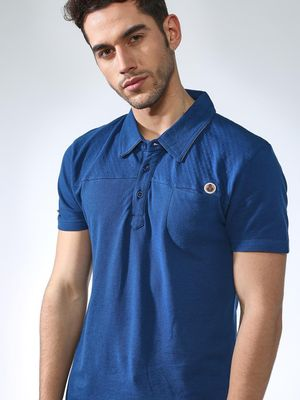 SMUGGLERZ Inc. Solid Muscle Fit Polo Shirt