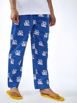 SMUGGLERZ Inc. All Over Palm Tree Print Trousers