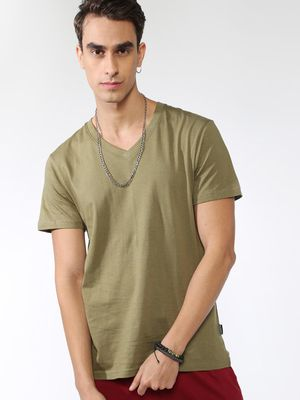 KOOVS Basic V-Neck T-shirt