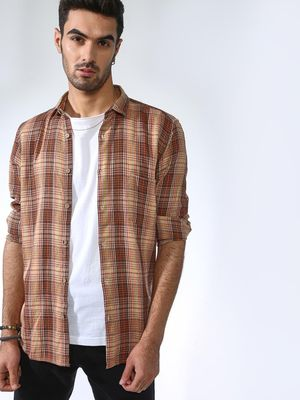AMON Plaid Check Causal Shirt
