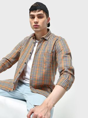 AMON Multi Check Patch Pocket Shirt