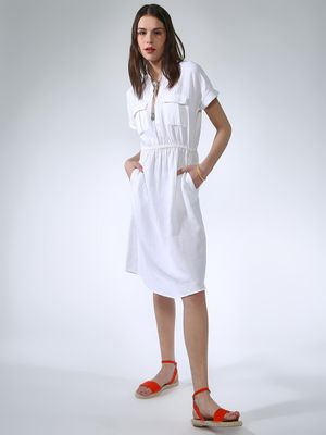 Oxolloxo Magnify Basic Midi Dress