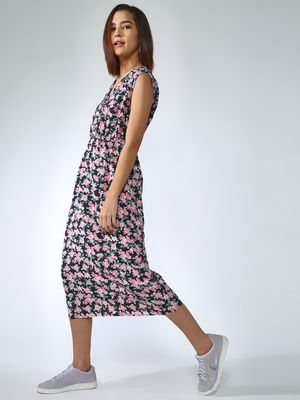 Oxolloxo Floral Print Midi Dress