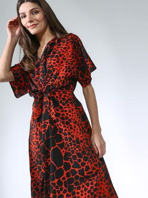Oxolloxo All Over Printed Dress