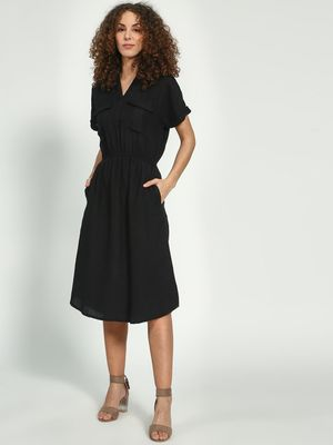 Oxolloxo Basic Regular Fit Midi Dress