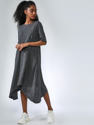 Femella Melange High-Low Midi Dress