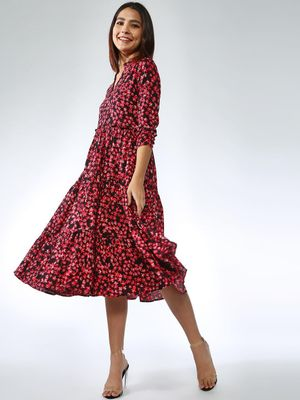 Femella All Over Floral Print Dress