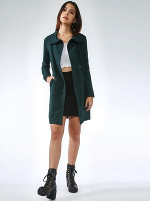 Femella Double-Breasted Longline Jacket