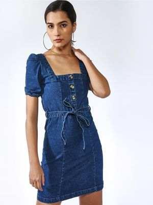 K Denim Regular Fit Midi Dress