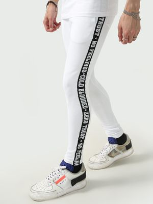 FUGAZEE Slogan Side Tape Detail Joggers