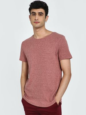 AMON Textured Round Neck T-Shirt