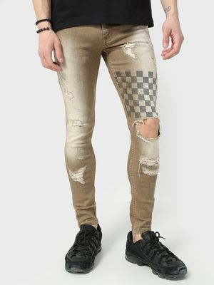 IMPACKT Light Wash Distressed Skinny Jeans