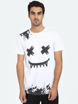 Kultprit Paint Splatter Face Art Print T-Shirt