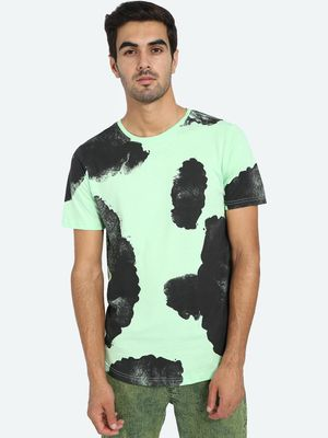 Kultprit Abstract Print Crew Neck T-Shirt