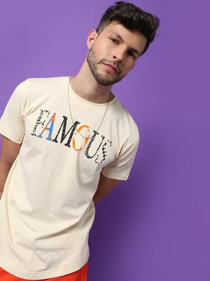 IMPACKT Famous Text Print Crew Neck T-Shirt