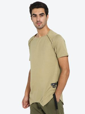Kultprit Asymmetric Hem Square Neck T-Shirt