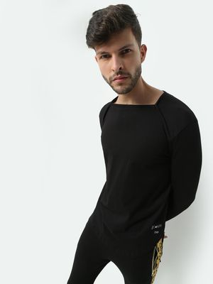 Kultprit Square Neck Thumb-Hole T-Shirt