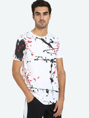 Kultprit All Over Paint Splatter Print T-Shirt