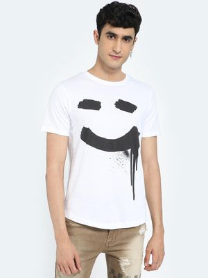 IMPACKT Smile Graphic Placement Print T-Shirt