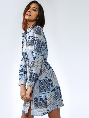 Oxolloxo Box Floral Printed Dress