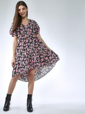 Oxolloxo Rose Printed Dress