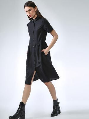 Oxolloxo XOLLOXO Button Down Classic Dress