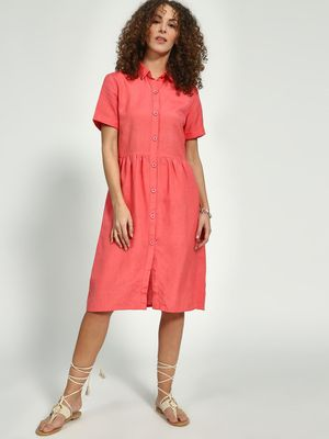 Oxolloxo Pleated Shirt Dress