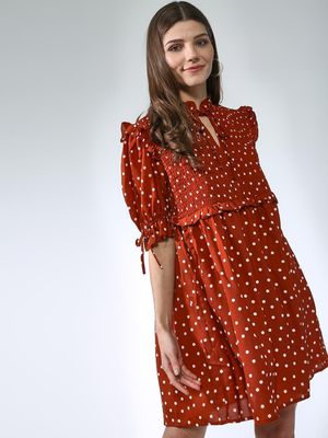 Oxolloxo Polka Dot Midi Dress