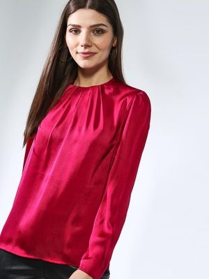 Oxolloxo Pleated Long Sleeve Top
