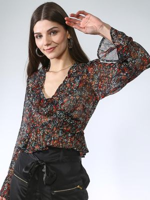 Oxolloxo All Over Floral Top