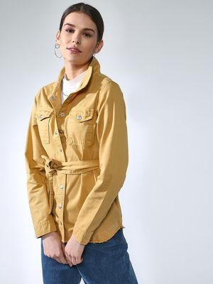 Blue Saint Twin-Patch Pocket Long Sleeves Jacket