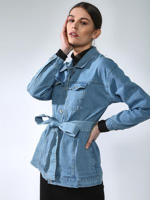 Blue Saint Light-Wash Denim Jacket