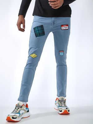 REALM Badge Detail Skinny Jeans