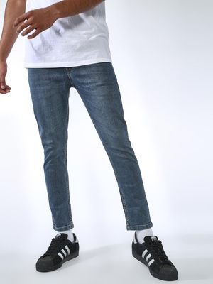 REALM Light Wash Cropped Slim Jeans