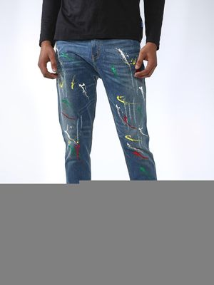 REALM Distressed Splatter Print Jeans