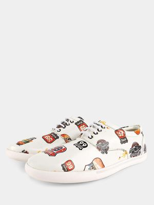 KOOVS American Badge Print Sneakers