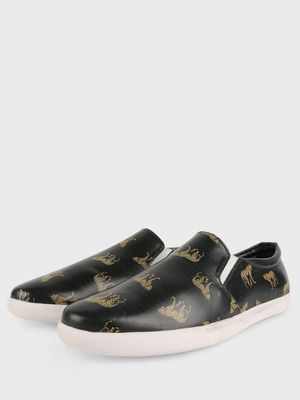 KOOVS Leopard Print Slip-On Shoes
